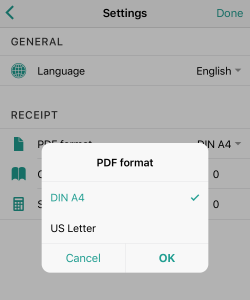 Can I change the PDF format?