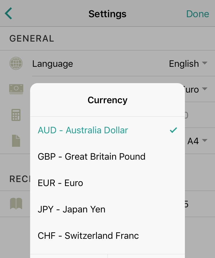 Can I change the currency?